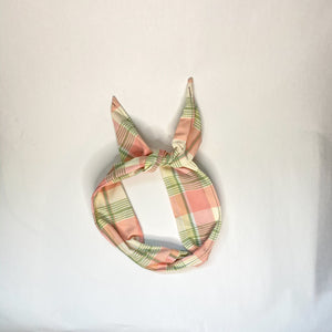 Springy Plaid Wired Headband
