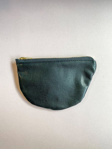 Midnight Small Half Moon Zippered Pouch