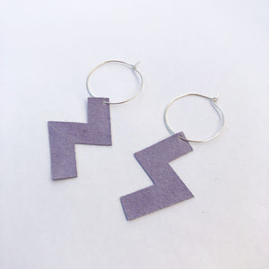 Ziggy Hoops in Lilac