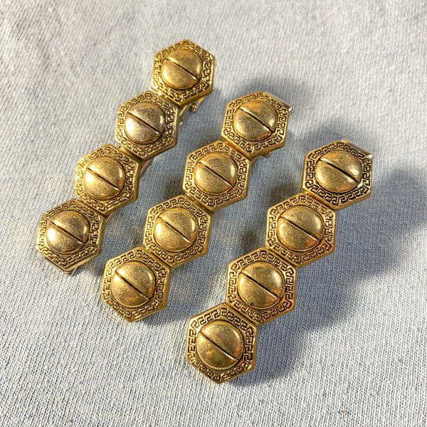 Bolted Button Barrette