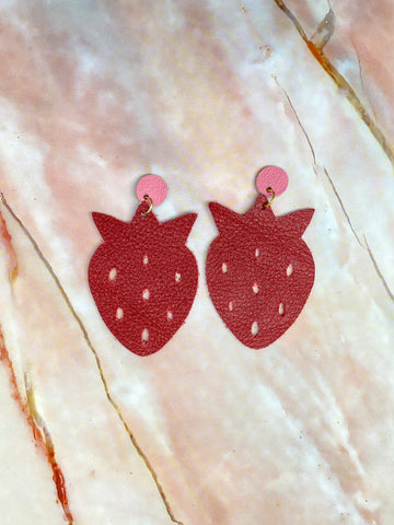 Red Strawberry Earrings
