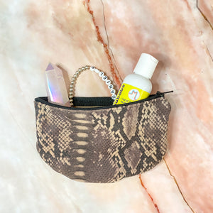 Snake Print Small Zippy Pouch