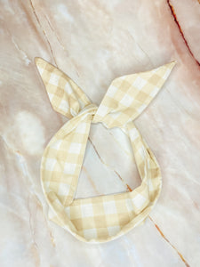 Au Naturel Gingham Wired Headband