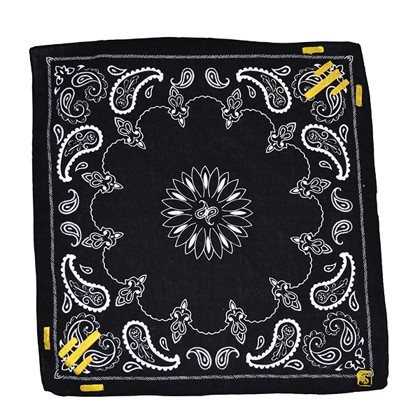 Doctor'd by Squar'd Away - Black Rectangle Kerchief