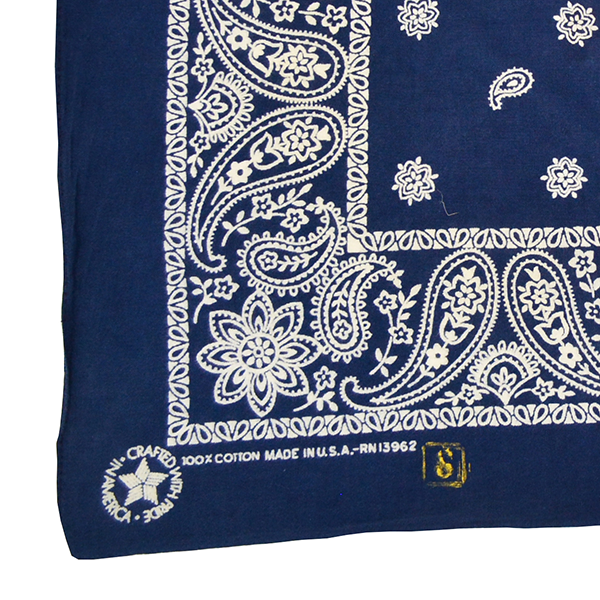 DOCTOR'D BY SQUAR'D AWAY - NAVY RECTANGLE BANDANA