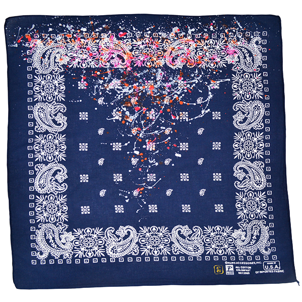 Doctor'd by Squar'd Away - Navy Splatter Bandana
