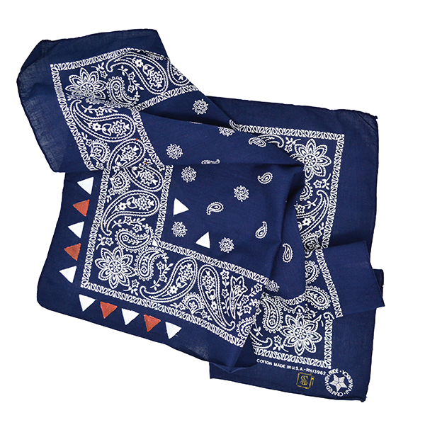 Doctor'd by Squar'd Away - Navy Triangle Bandana