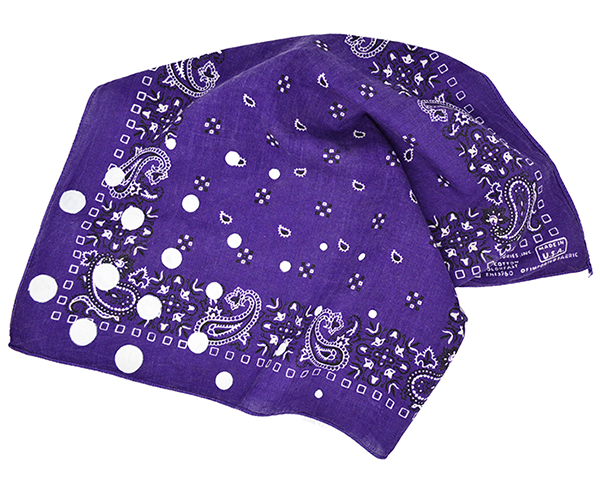 Doctor'd by Squar'd Away - Purple Spot Bandana