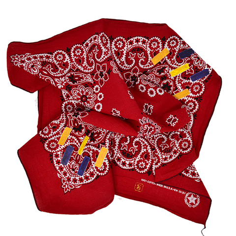 Doctor'd by Squar'd Away - Red Rectangle Bandana