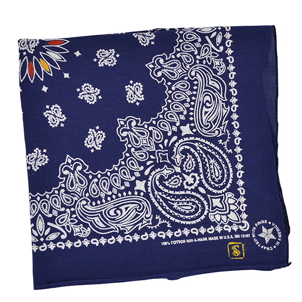 Doctor'd by Squar'd Away - Navy Line Bandana