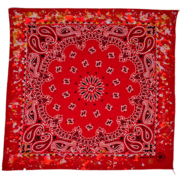 Doctor'd by Squar'd Away - Red Splatter Bandana