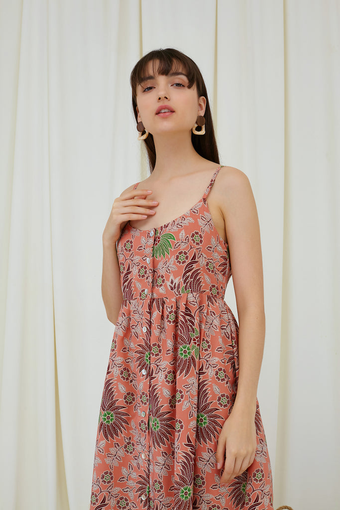 Willow Dress in Peach Batik