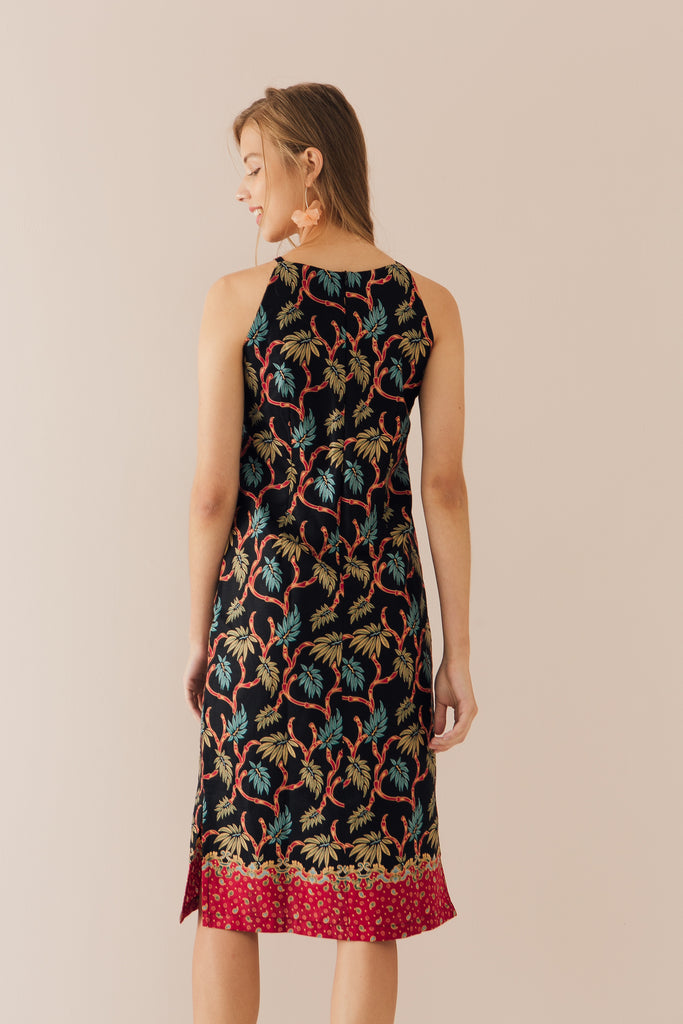 Halter Dress in Bamboo Print (Exclusively at CK Tangs Vivo)