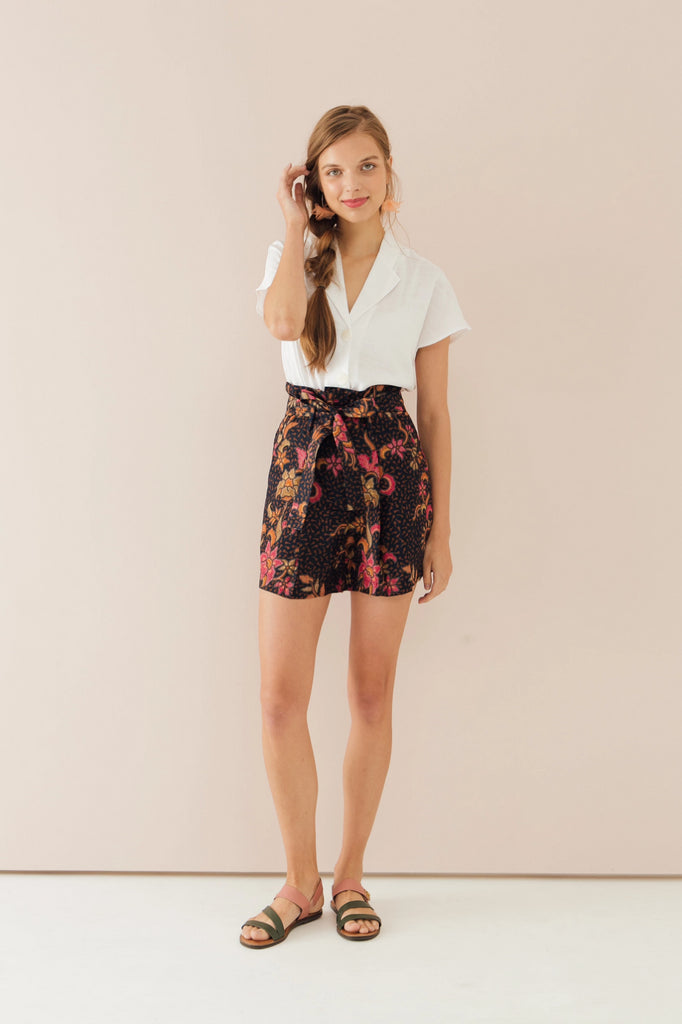 Batik Bell Floral Shorts (Exclusively at CK Tangs Vivo)