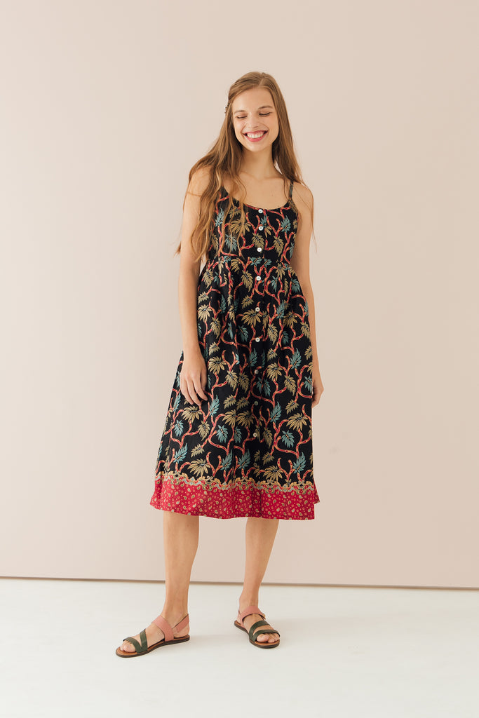 Willow Dress in Bamboo Print