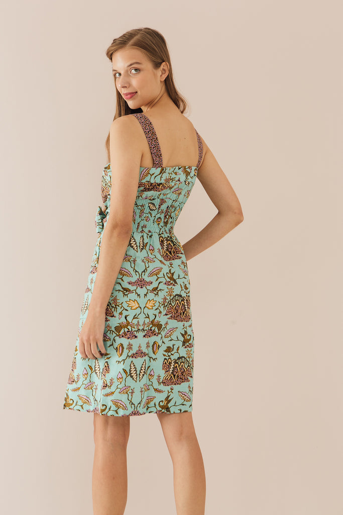 Theo Button Down Dress in Lotus print (Exclusively at CK Tangs Vivo)