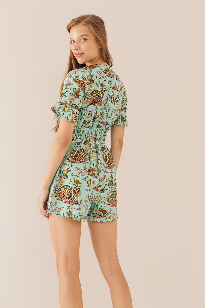 Out of town Playsuit in Lotus Print (Exclusively at CK Tangs Vivo)