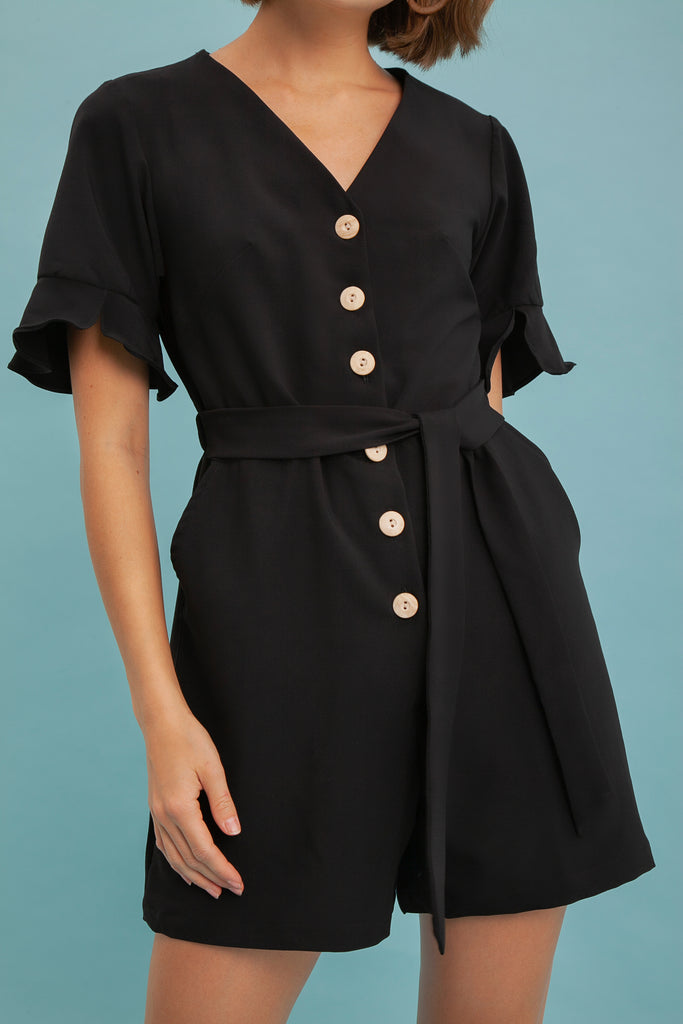 Out of Town Playsuit (Black)