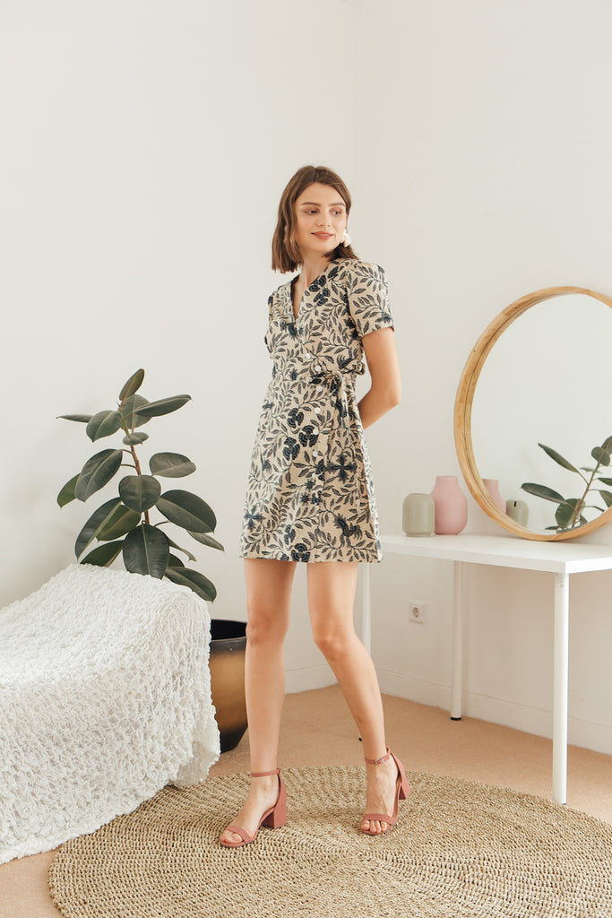 Theo Floral Wrap Dress
