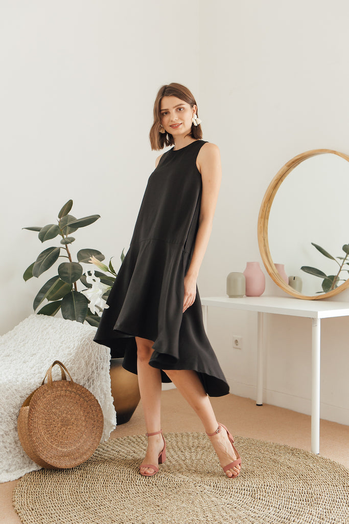 Carla Dip Hem Dress