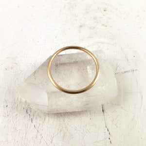 Solid Gold Band, 1.2mm, Plain