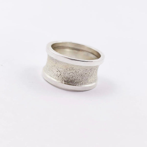 Unisex Sterling Silver Band