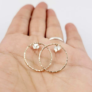 Gold Filled Hoop Studs - Gemspell