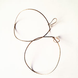Bronze Curved Teardrop Hoops