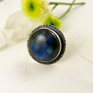 Labradorite Statement Ring, Handmade and One of a Kind