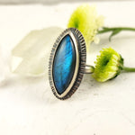 Statement Labradorite Ring, Handmade