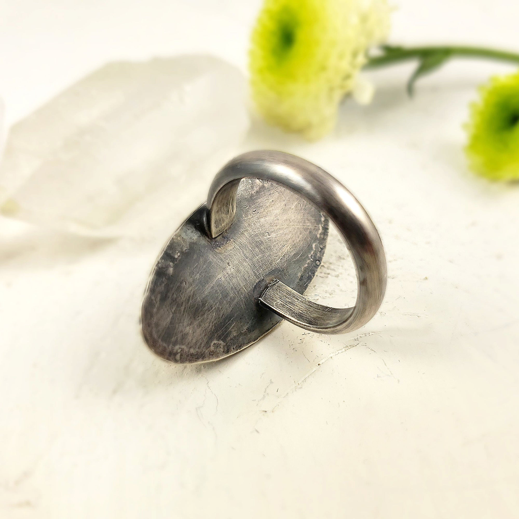Marquise Labradorite Statement Ring