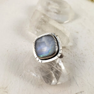 Square Moonstone Ring