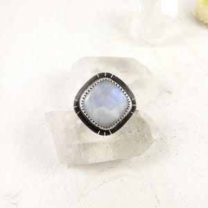 Handmade Sterling Silver and Moonstone Ring