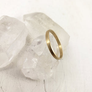 Handmade in Canada solid 10k, 14 k or 18k yellow gold wedding band