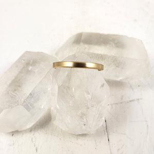 Solid gold wedding ring, unisex engagement band, yellow gold handmade in Canada