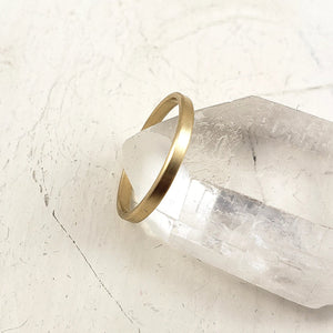 minimalist gold wedding band, 2mm thick in 10k, 14k or 18k yellow gold