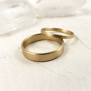Set of solid gold engagement rings, Modern, Sophisticated, Contemporary gold rings