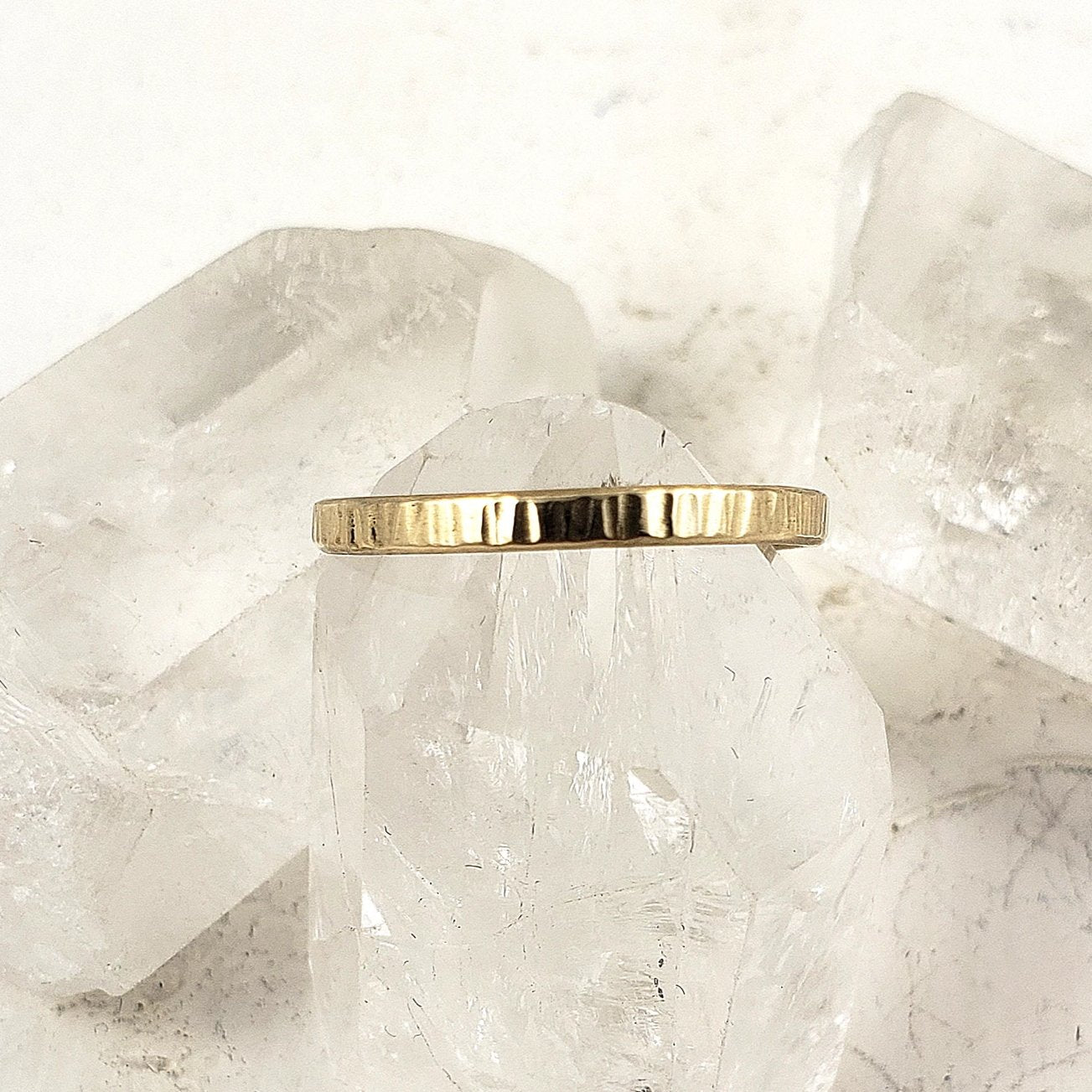 Solid gold engagement ring, classic and simple, in 10k, 14k or 18k yellow gold
