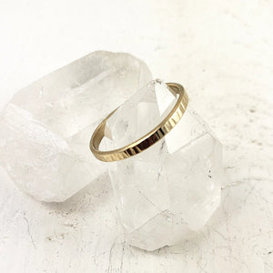 textured gold wedding band, minimalist, unisex