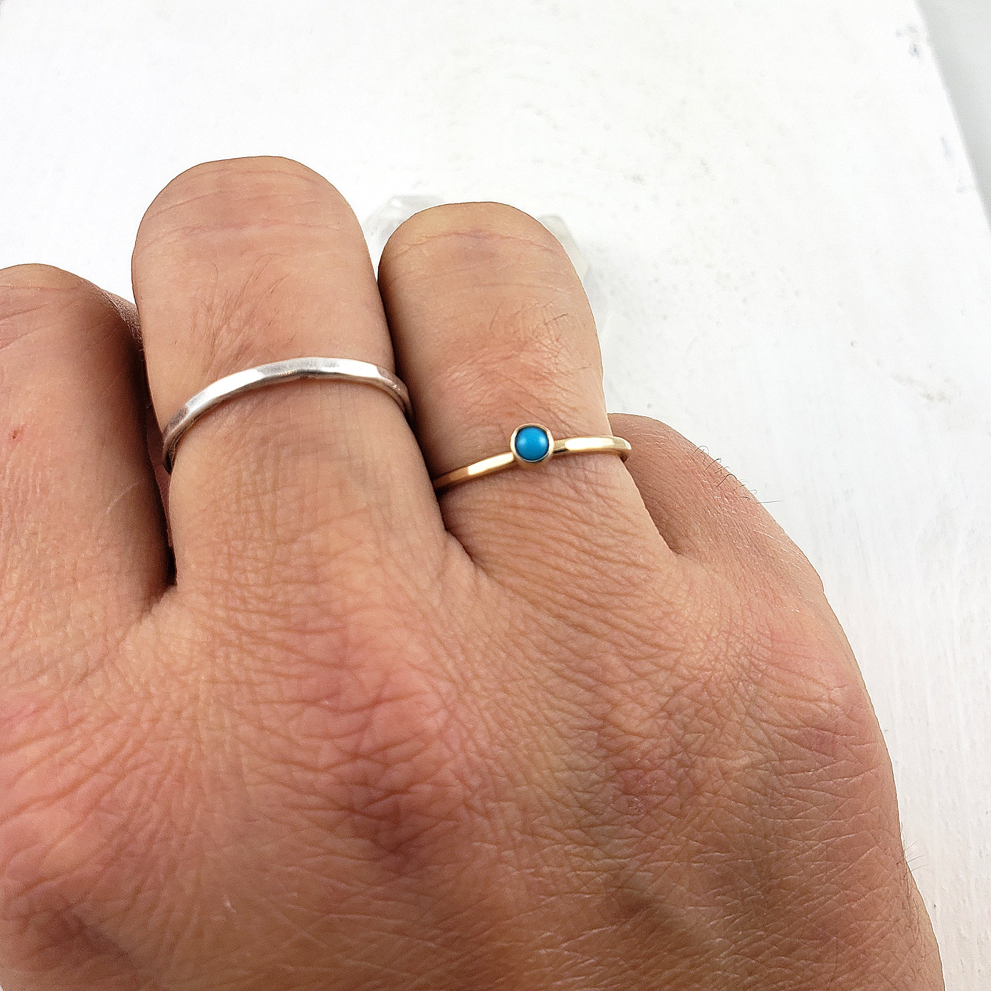 14k Gold and Natural Turquoise Ring