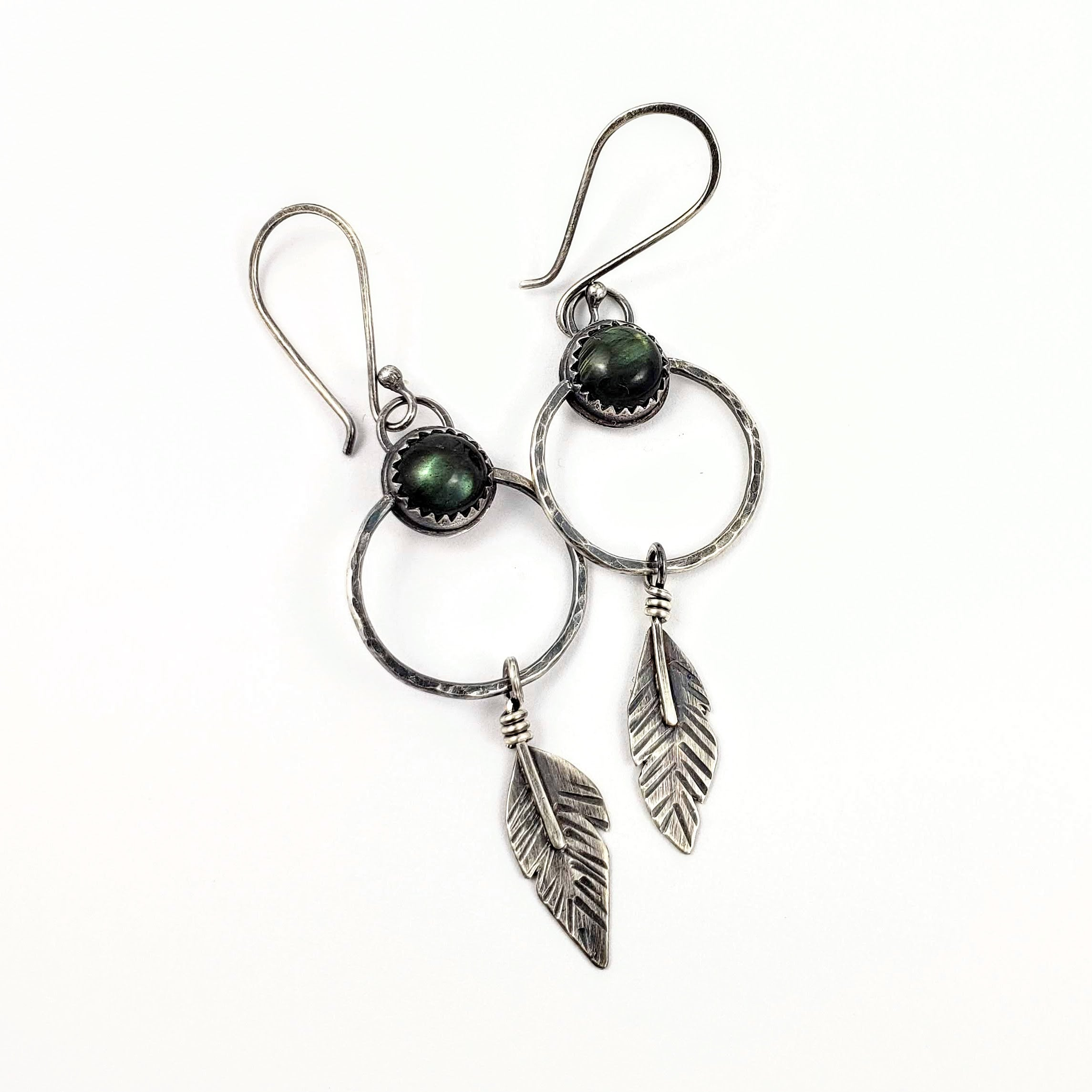 Labradorite Dreamcatcher Earrings