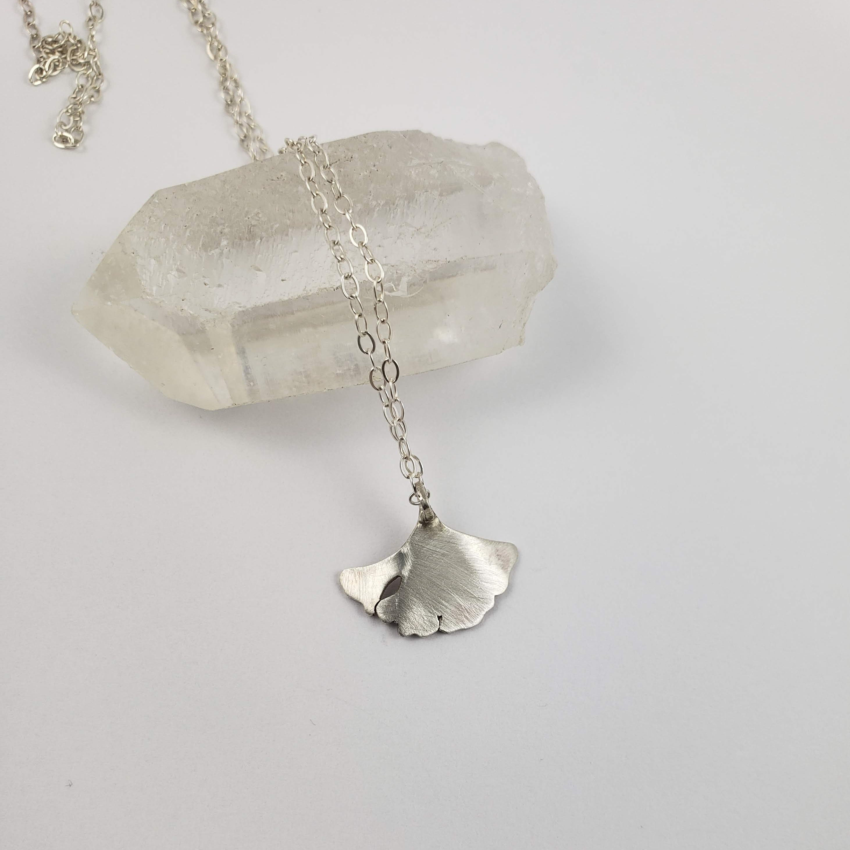 Small Gingko Leaf Necklace