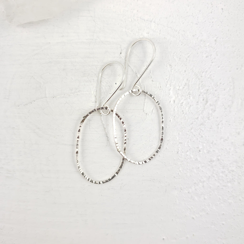 Oval Dangle Hoops