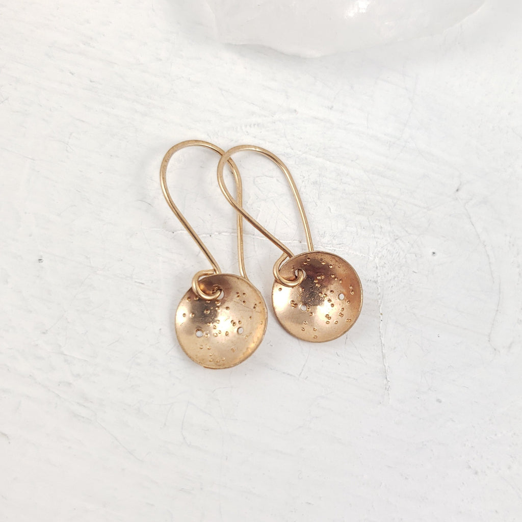La Luna Bronze Drop Earrings