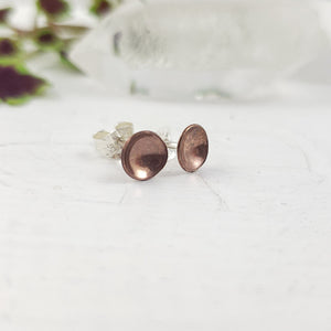 Curved Bronze Circle Studs