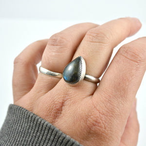 Labradorite Ring, Adjustable - Gemspell