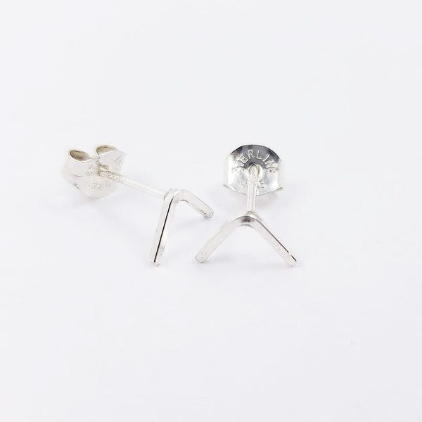 sterling silver studs, minimalistic earrings