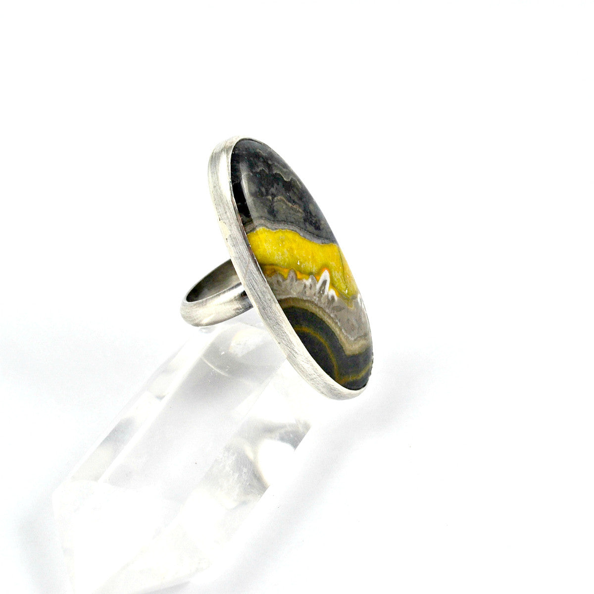 Bumblebee Jasper Statement Ring, Size 6.5 - Gemspell