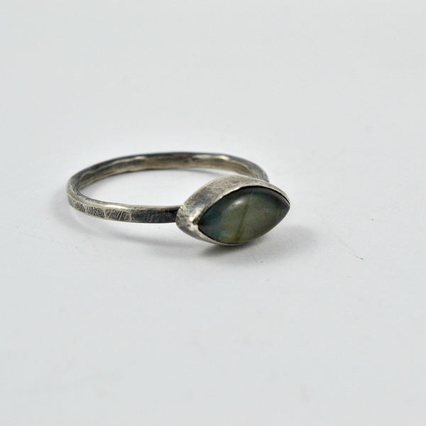 East to West Labradorite Ring