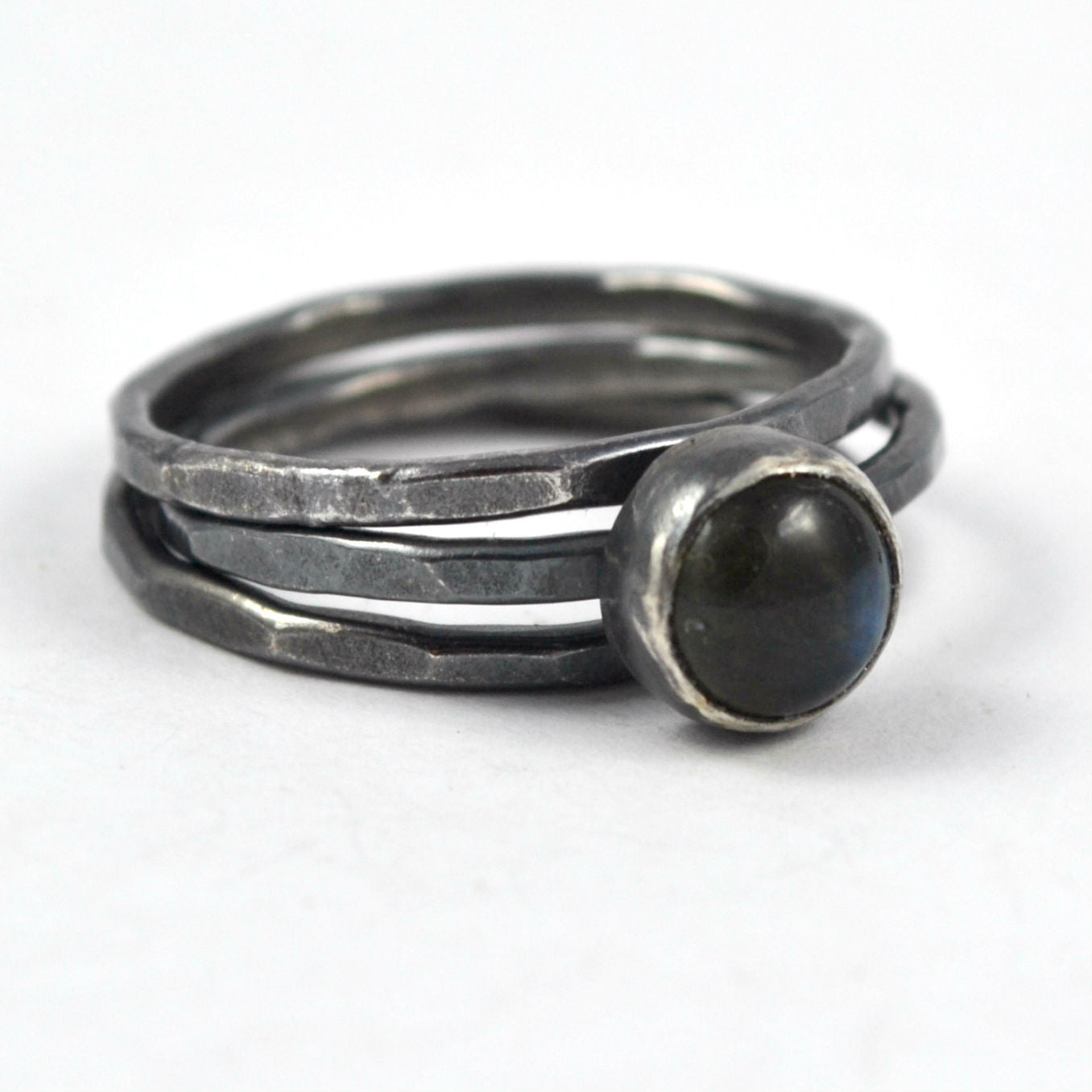 Labradorite Stacking Ring Set - Gemspell